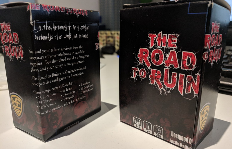 The Road to Ruin tuckbox